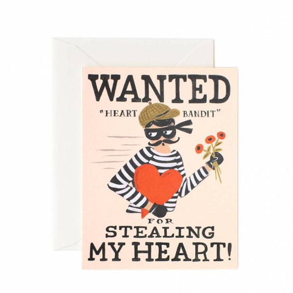 Greeting Card - Heart Bandit - Oxley and Moss