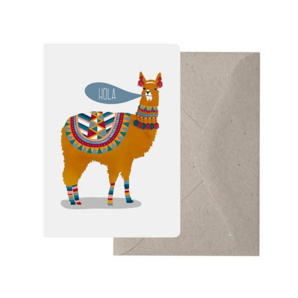 Greeting Card - Hola Llama - Oxley and Moss