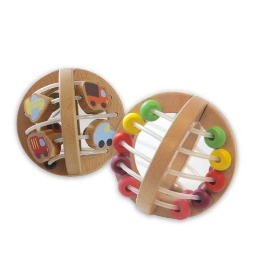 Discoveroo Wooden Play Ball - Traffic - Oxley and Moss