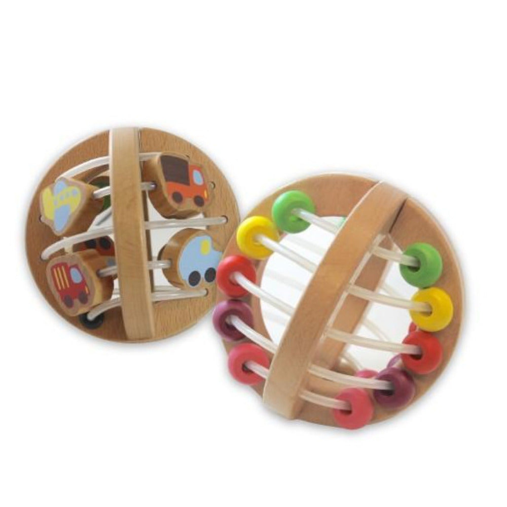 Discoveroo  Wooden Play Ball - Beads - Oxley and Moss