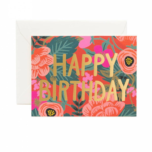 Greeting Card - Poppy Birthday - Oxley and Moss