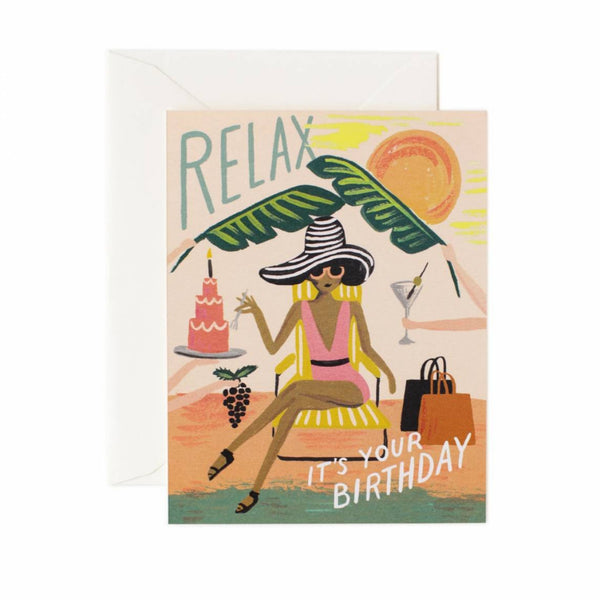 Greeting Card - Relax Birthday - Oxley and Moss