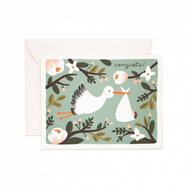 Greeting Card - Congratulations Stork - Oxley and Moss