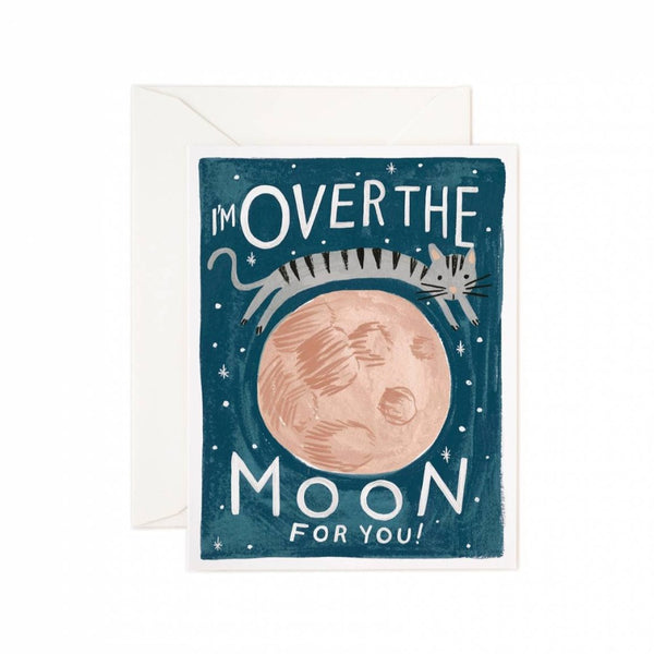 Greeting Card - Over The Moon - Oxley and Moss