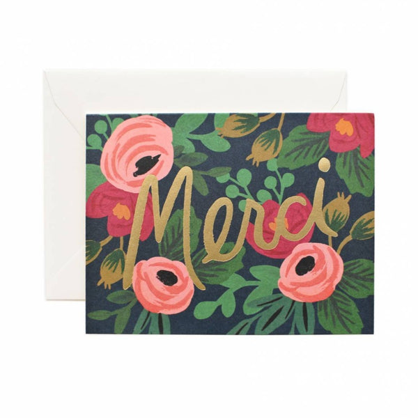 Greeting Card - Merci - Oxley and Moss