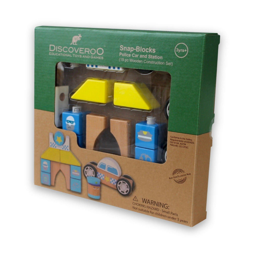 Discoveroo Snap Block Police Set - Oxley and Moss