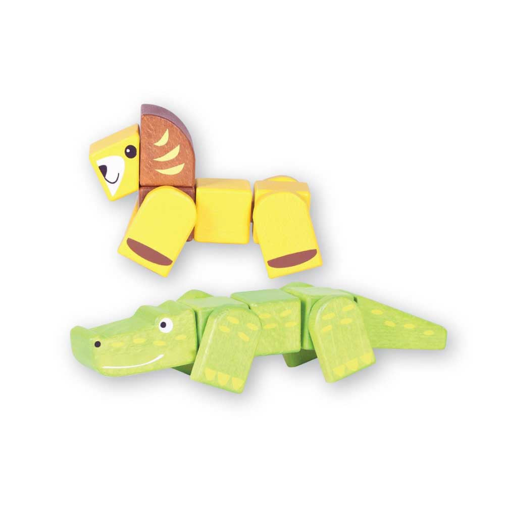 Discoveroo Snap Blocks Croc Lion - Oxley and Moss