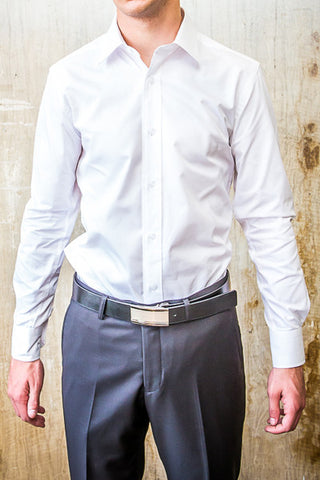Boston White Dress Slim Fit Shirt