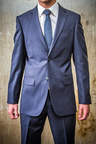 Boston Navy Pin Strip in Tailored Fit Suit