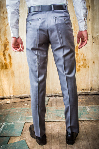 Daniel Hechter Grey 100% Wool in Tailored Fit Trouser