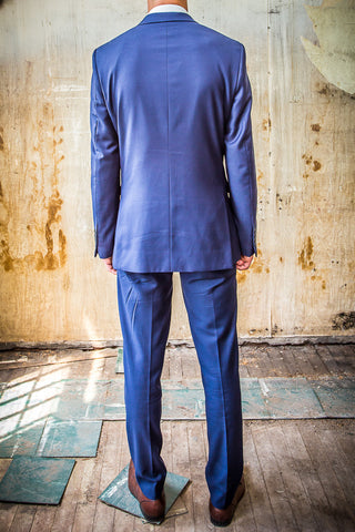 Daniel Hechter Blue 100% Wool in Tailored Fit Suit