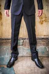 Christian Brooks Black with Satin Lapel in Tailored Fit Suit