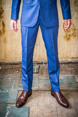 Christian Brooks Blue in Tailored Fit Suit