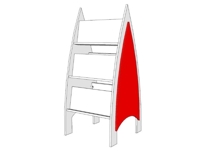 Akaroa Children's Double Sided Book Display - 3 Tier