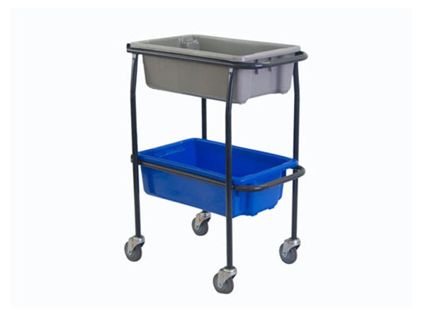 Two Tier Trolley for Plastic Crates