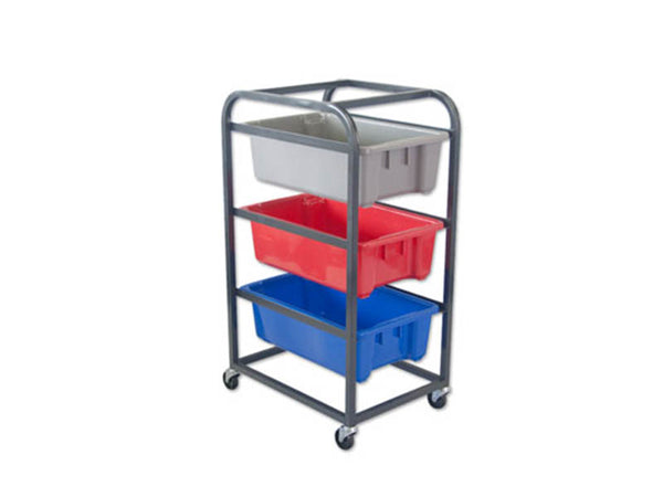 Three Tier Trolley for Plastic Crates