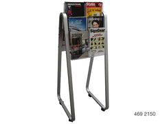 A4 Double-Sided Lit Loc Easel Floor Stands