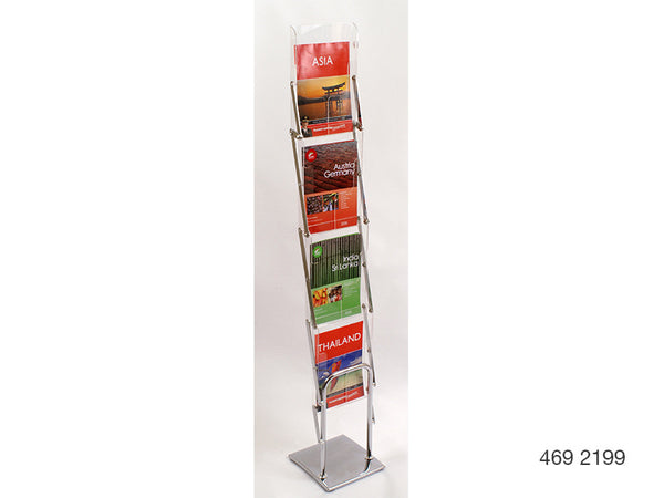 A4 Mobile Display and Exhibition Floor Stand - Acrylic Pockets