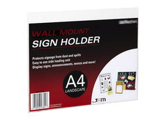 Wall Mounted Sign Display - Landscape