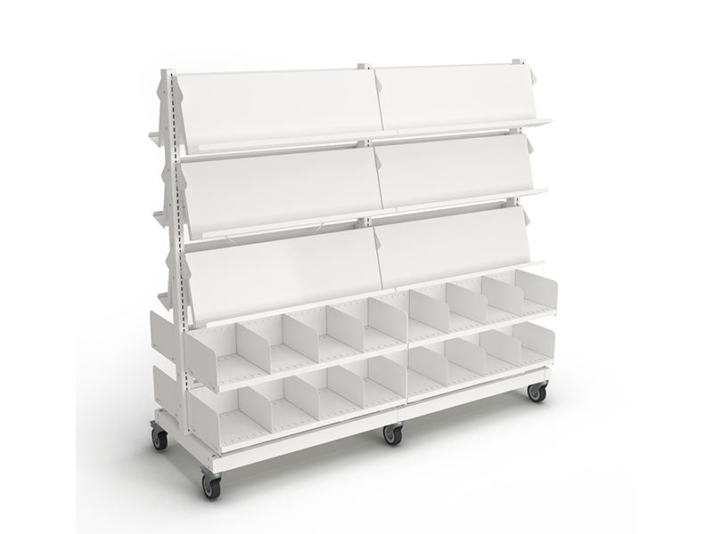 Intraspec Double Mobile Shelving 1560mm Magazines