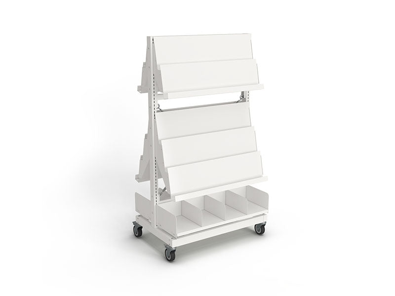 Intraspec Mobile Shelving 1560mm Waterfall Display