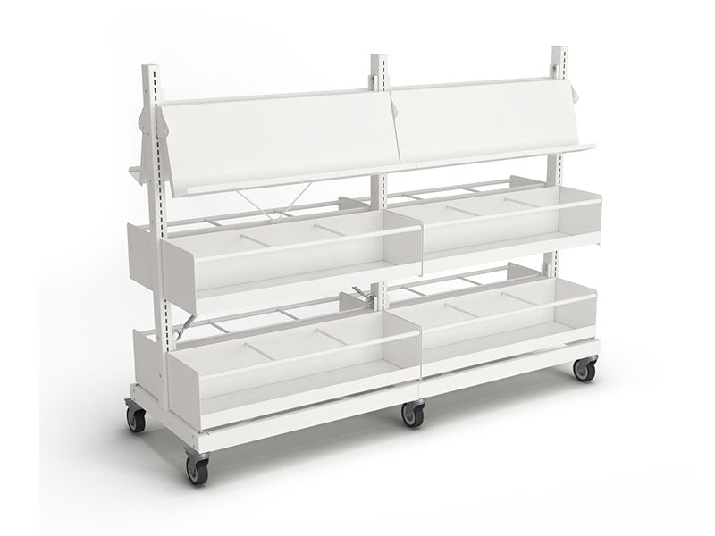 Intraspec Double Mobile Shelving 1260mm Graphic Novel / Picture Book