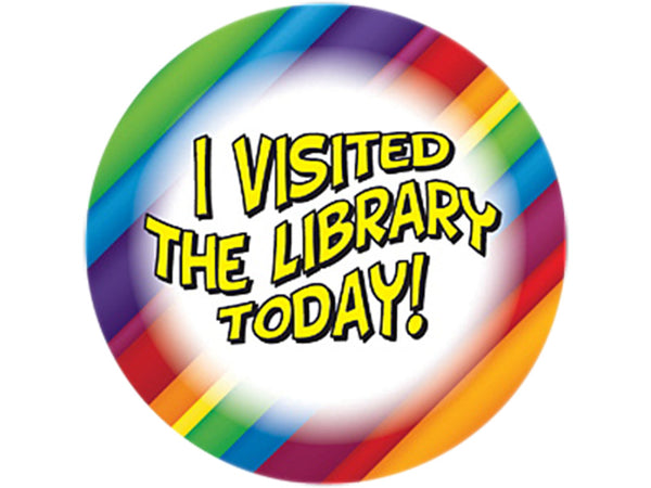 I Visited The Library Today Rainbow Stickers