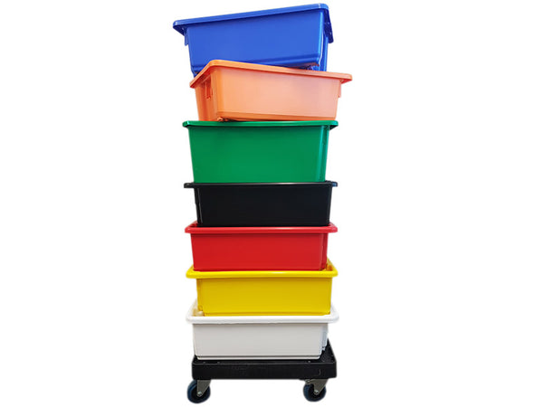 Plastic Crate - 32L Stackable/Nesting