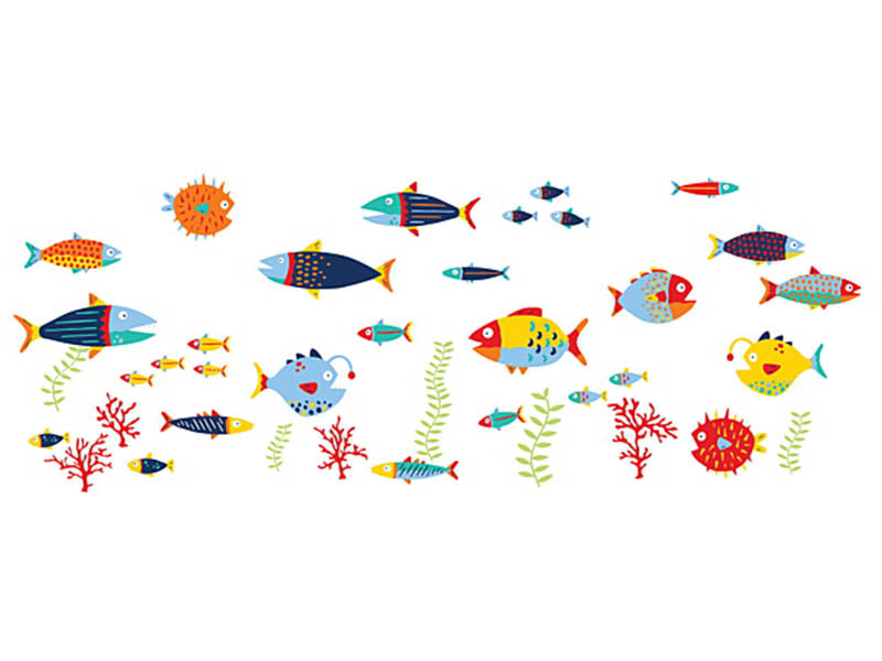WallPops!® Fish Tales Wall Decals