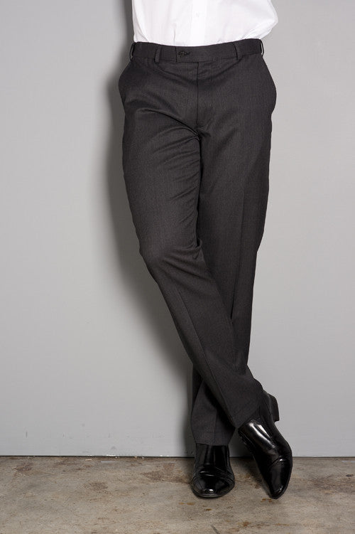 IP028 - Charcoal Flat Front Trouser