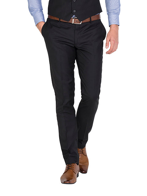 IP045 - Black Flat Front Trousers