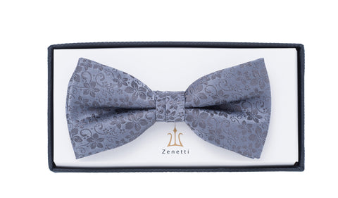 ZBT003 (GREY) - SILK PATTERNED BOW TIE