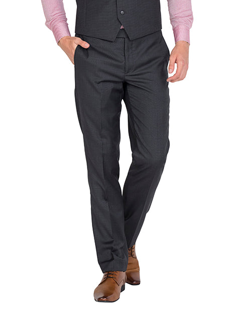 ZP029 - Charcoal Flat Front Trouser