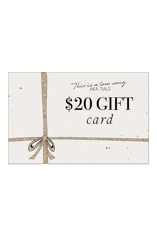 $20 GIFT CARD -  THIS IS A LOVE SONG