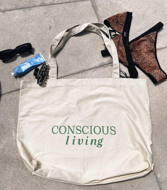Conscious Living (Large organic tote bag) - Accessories THIS IS A LOVE SONG