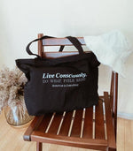Live Consciously (Large organic tote bag) - Accessories THIS IS A LOVE SONG