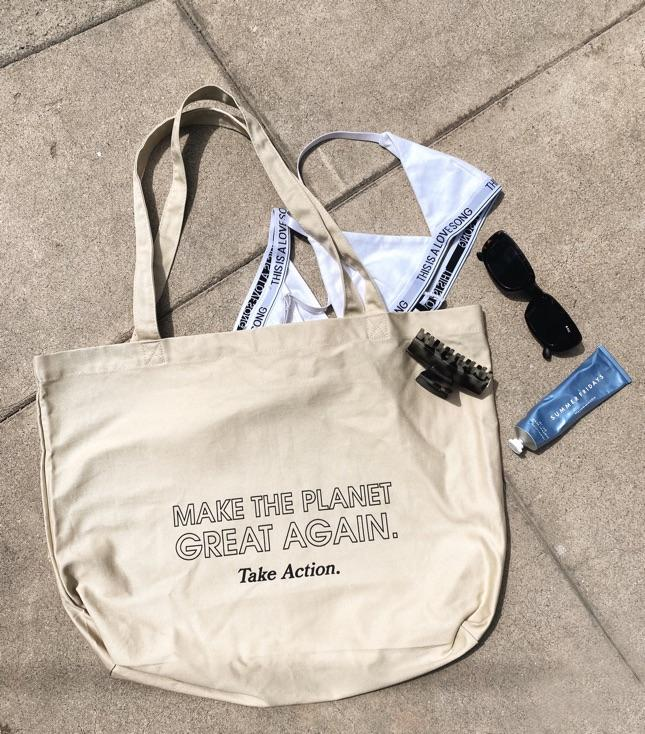 Make The Planet Great Again (Large organic tote bag) - Accessories THIS IS A LOVE SONG