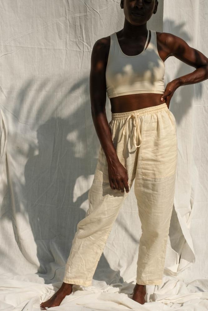 Cora Linen Pants (Buttercream) - APPAREL THIS IS A LOVE SONG