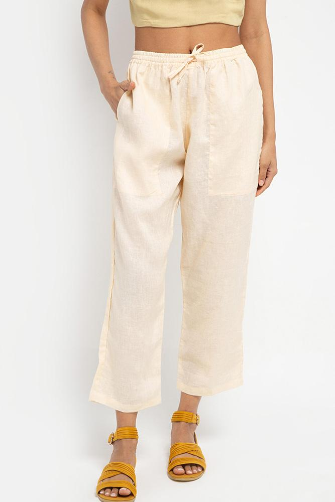 Cora Linen Pants (Buttercream) - THIS IS A LOVE SONG