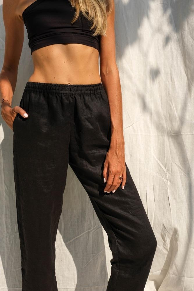 Cora Linen Pants (Midnight) - THIS IS A LOVE SONG