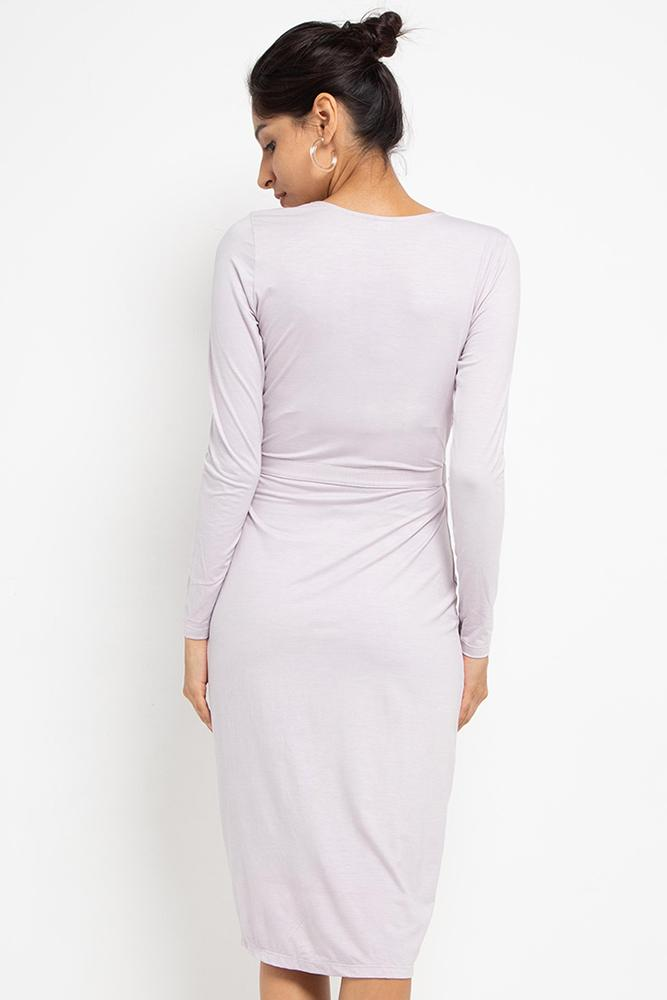 Farrah Wrap Dress (Lilac) - THIS IS A LOVE SONG