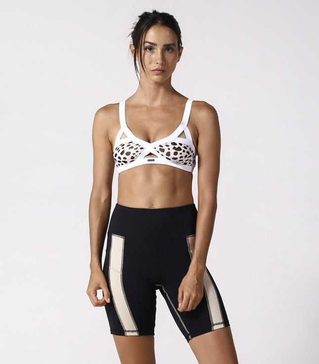 Isla Sports Bra (White Cheetah) - APPAREL THIS IS A LOVE SONG