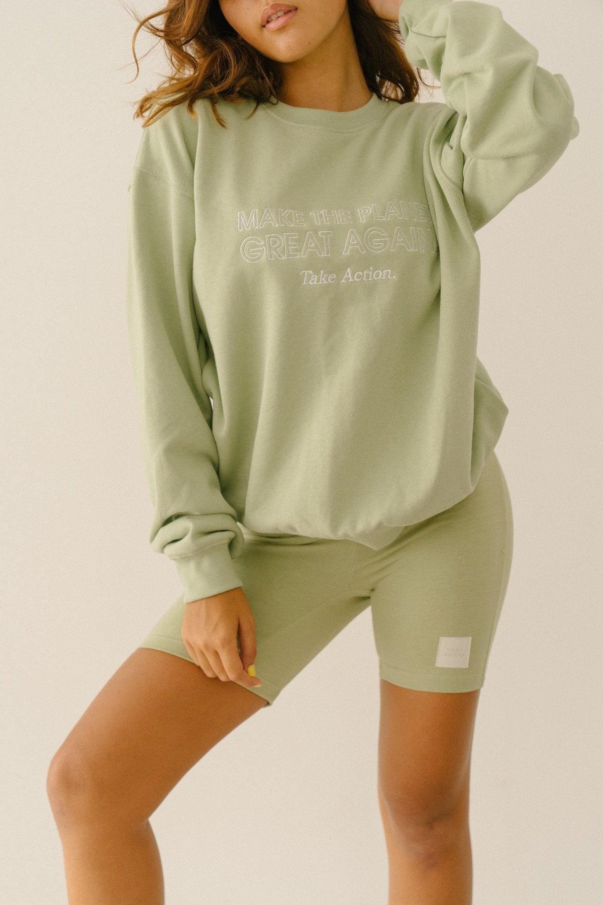 APPAREL - Make The Planet Great Again Sweater (Watercress)