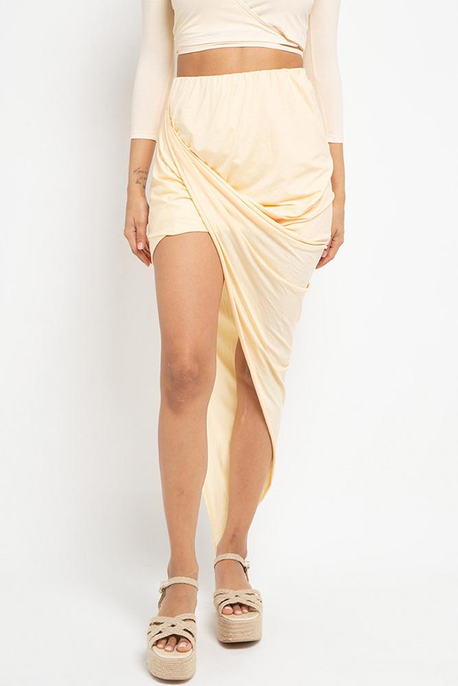 Sia Wrap Skirt (Buttercream) - APPAREL THIS IS A LOVE SONG