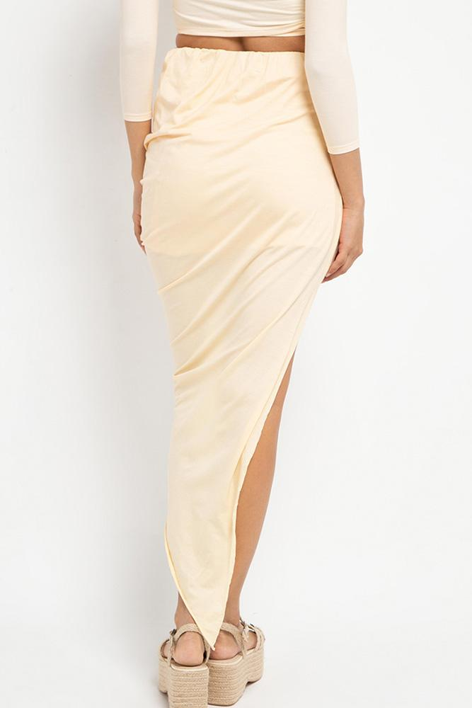 Sia Wrap Skirt (Buttercream) - THIS IS A LOVE SONG