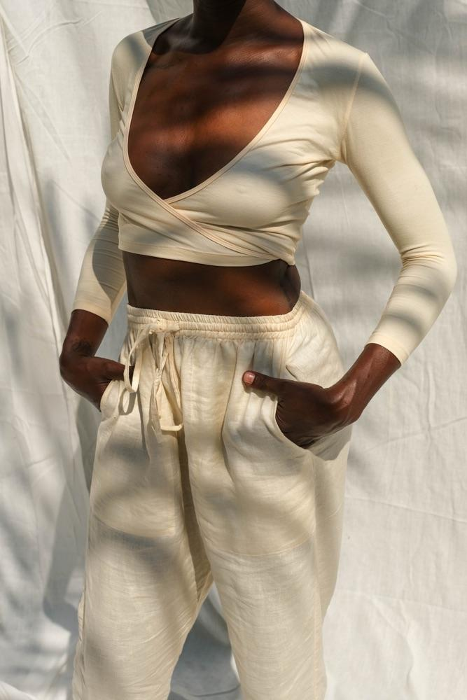 Sia Wrap Top (Buttercream) - APPAREL THIS IS A LOVE SONG