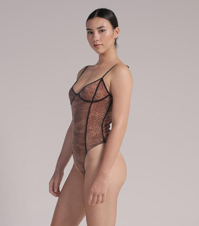Cala Bodysuit (Metallic Leopard) - BODYSUIT THIS IS A LOVE SONG
