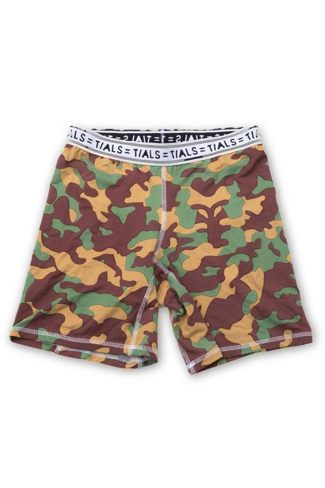 Camo Bike Shorts White Band - BOTTOMS THISISALOVESONG