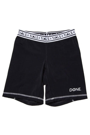 Done Bike Shorts White Band - BOTTOMS THISISALOVESONG