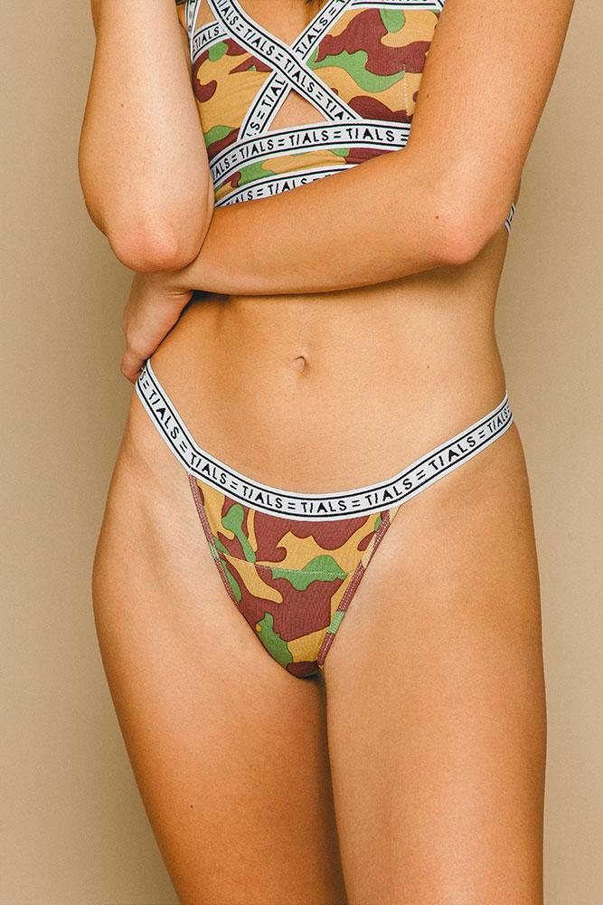 Logo Bikini Panty Camo - THIS IS A LOVE SONG